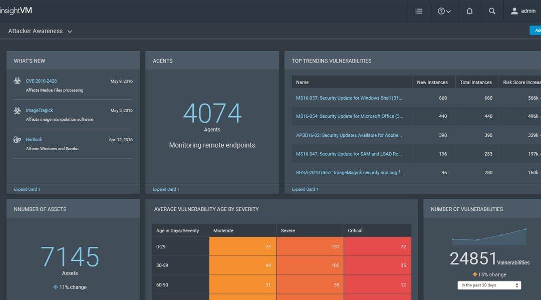 Nuova dashboard InsightVM di Rapid7 per le risorse remote